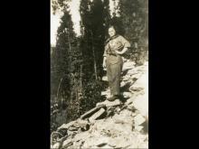 Maria Peron, medico di brigata della 85. Valgrande Martire. Val Grande, sul sentiero per Cossogno. 3 giugno 1944.