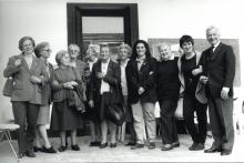 Partigiani e famigliari di partigiani della brigata Cesare Battisti durante un incontro nel 1997/98